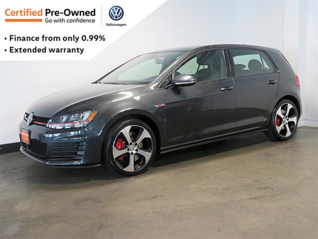 Certified Pre-Owned 2016 Volkswagen Golf GTI 5-Dr 2.0T Performance 6sp DSG at w/Tip