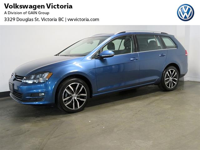 Certified Pre-Owned 2015 Volkswagen Golf Sportwagon 2.0 TDI Highline DSG at w/Tip